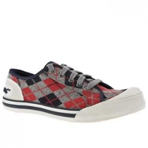 vegan plaid trainers