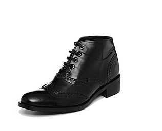 vegan brogue boots