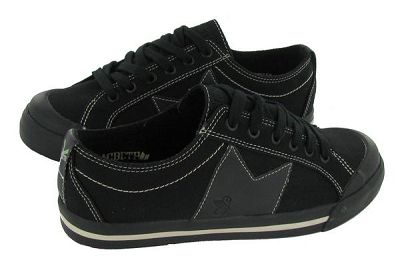 Vegan men's black skate shoes