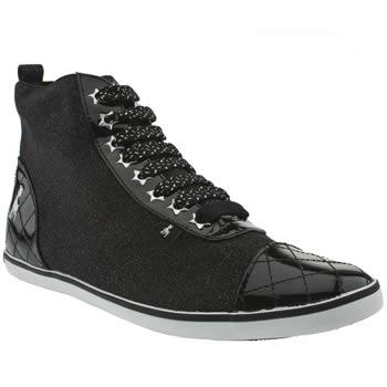 Black and beautiful high top vegan trainers
