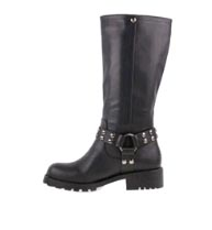 tall vegan biker boots