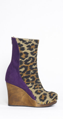 Vegan designer wedge boots