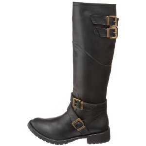 Knee high vegan designer boots