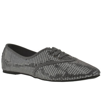 Vegan silver flat shoes
