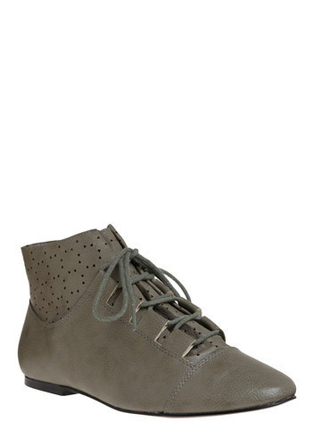 Cute vegan stone-coloured boots