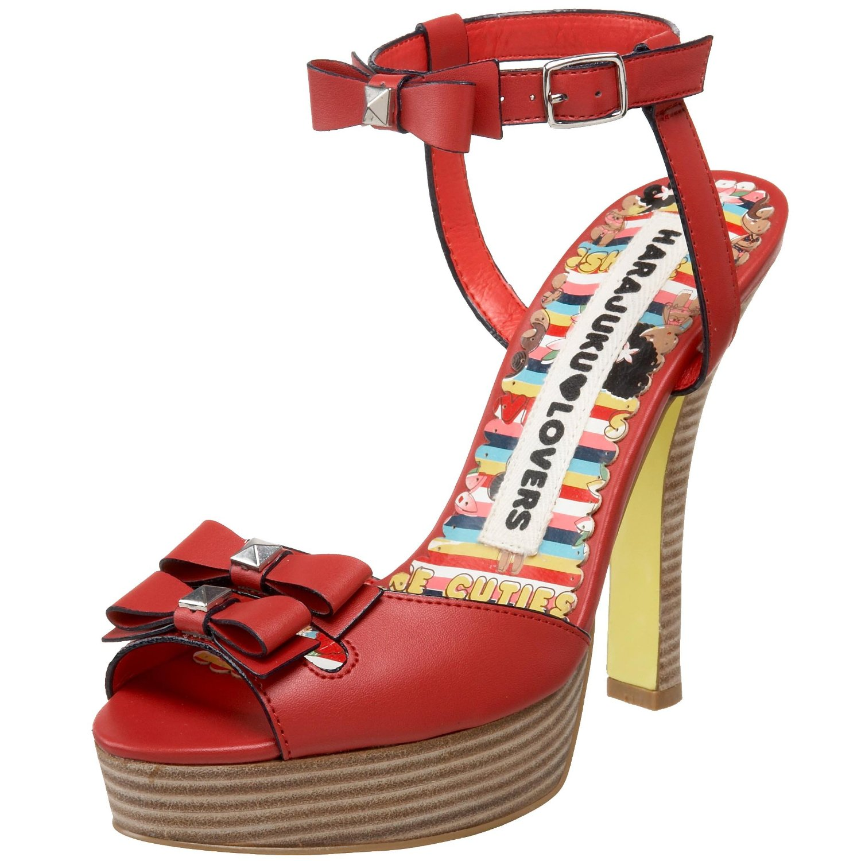 red vegan peep toe heels