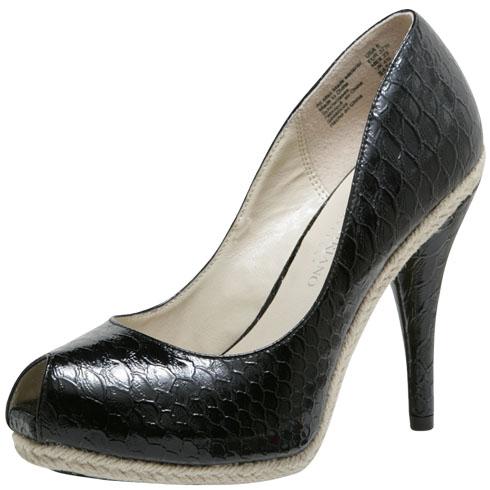 Vegan mock croc heels
