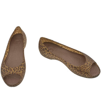 Vegan leopard print flat summer pumps