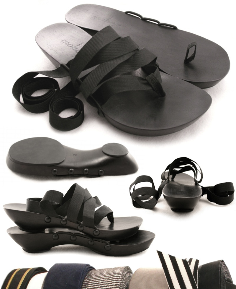 Cute vegan interchangeable sandals