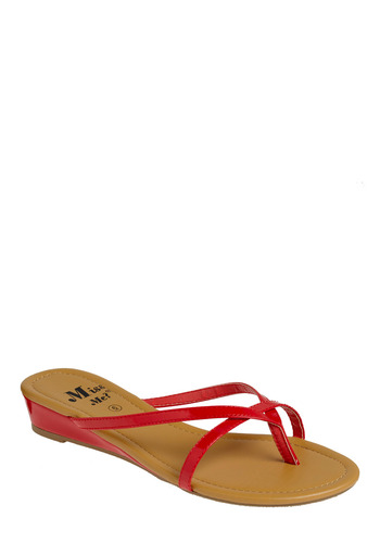 Simply red vegan sandals
