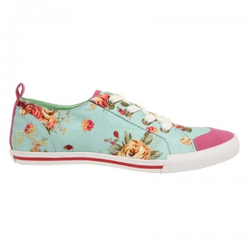 Simple vegan flowery trainers