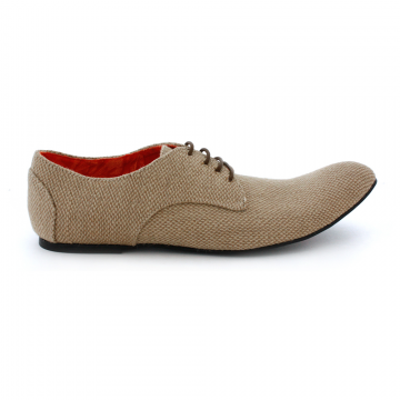 Vegan men's hessian shoes
