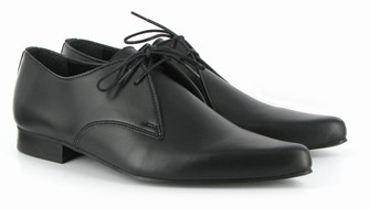 Vegan pointy lace up shoes for men