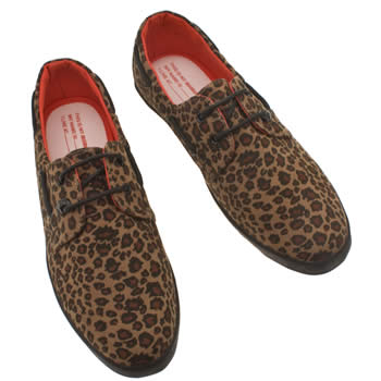 Vegan men's leopard print shoes