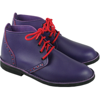 Vegan purple brogue boots