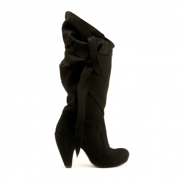 Hot vegan high heeled boots