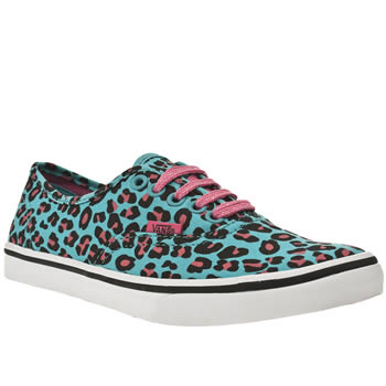vegan blue leopard print trainers