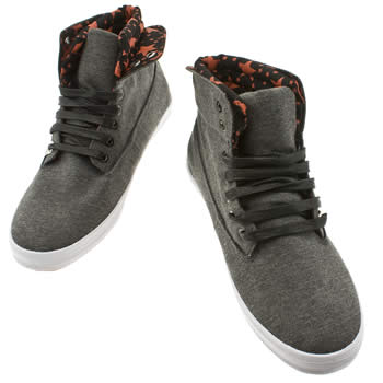 Vegan men's high top plimsoles with star lining