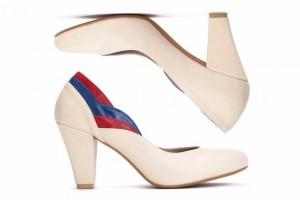 White vegan heels