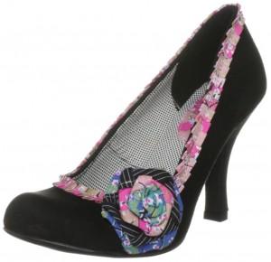 Vegan heels with flower