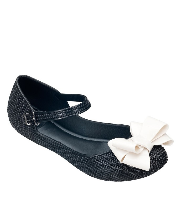 Cute vegan mary jane plastic shoes with bows