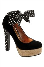 Cute vegan polka dot platforms with ties