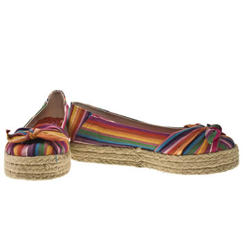 Vegan rainbow coloured espadrilles