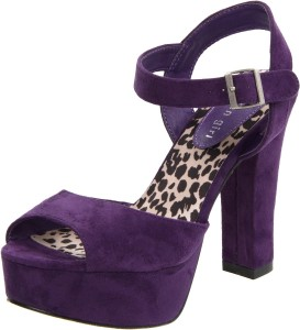 Purple vegan heels