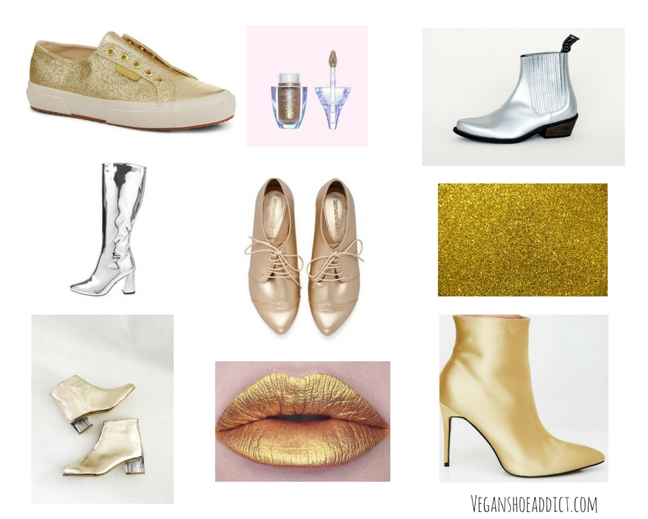 6 Vegan Gold and Silver Party Shoes – Sparkle on!