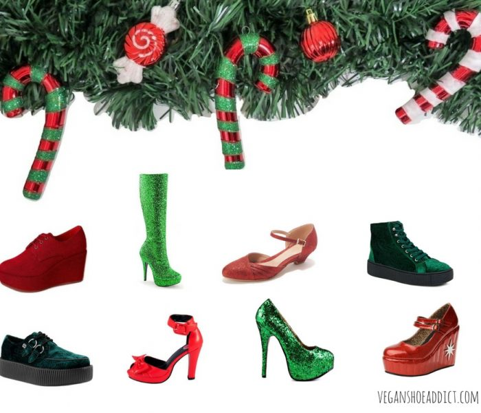 Green and Red Vegan Shoes to Wear Year-Round