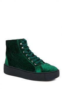 Green vegan sneakers