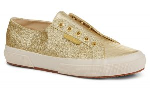 Superga gold trainers