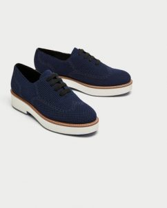 Zara fabric brogues