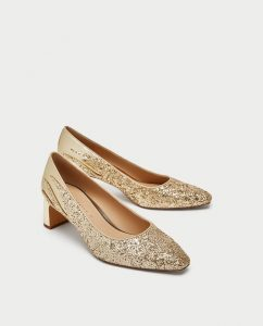 Zara Gold Vegan Shoes