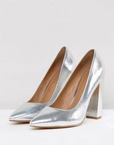 Asos vegan silver heels
