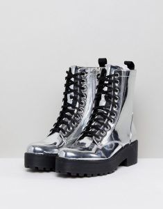 Vegan Asos Silver Boots