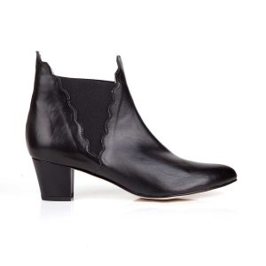 High heeled vegan chelsea boots