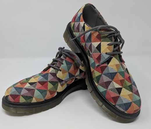Eco-Friendly Vegan Oxford Shoes with a Crazy Awesome Pattern