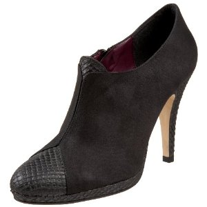 Stylish vegan high heel booties