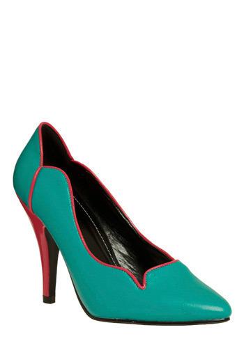 Hot bold vegan heels