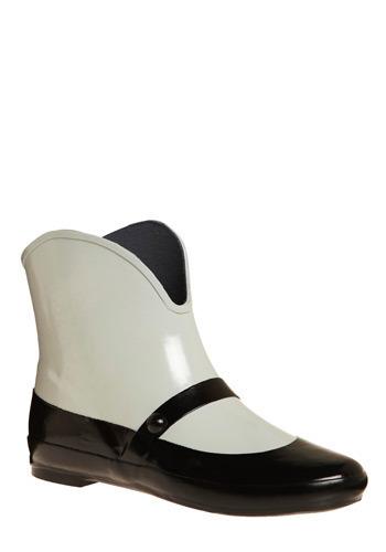 Strange vegan rain boots