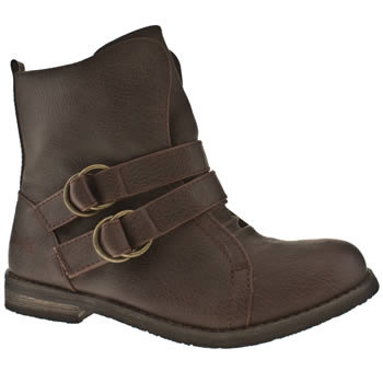 Brown vegan strappy ankle boots