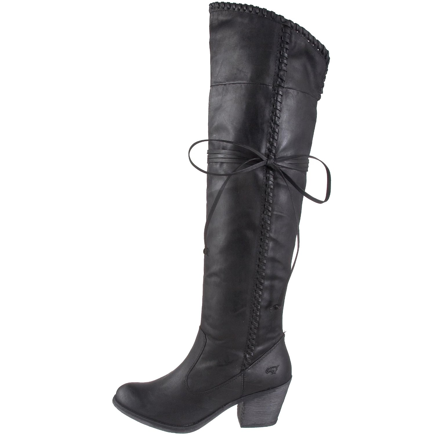 Western style vegan over the knee boots