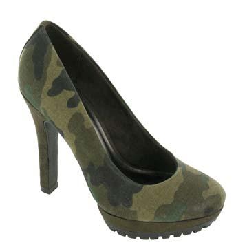 Camo clubber vegan heels