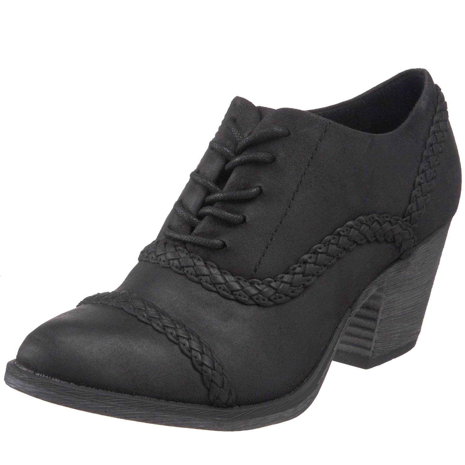Vegan chunky heeled oxfords