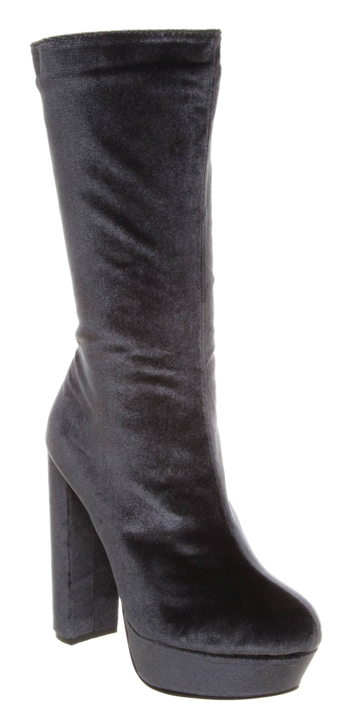 Vegan 70s style velvet boots