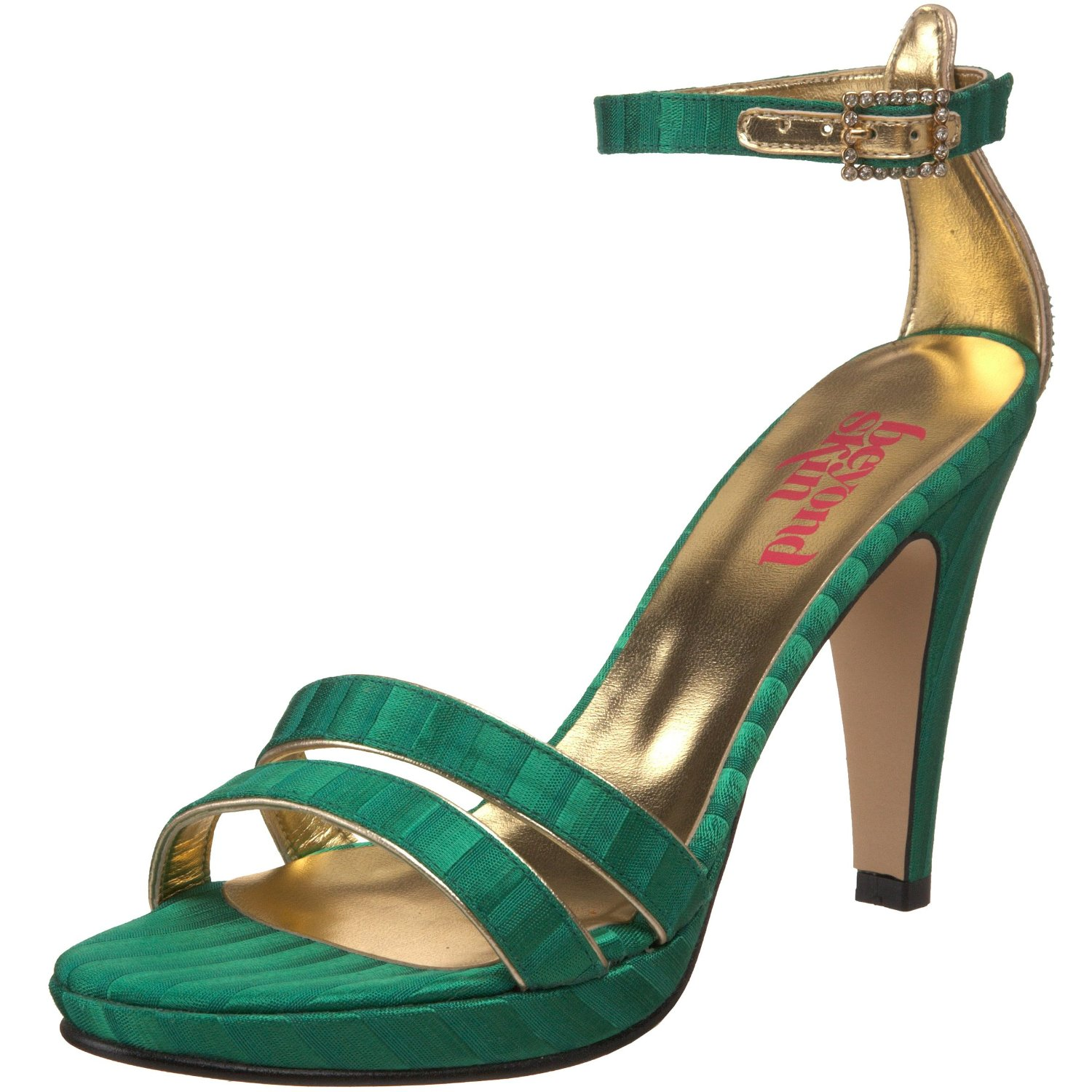 Green vegan party heels
