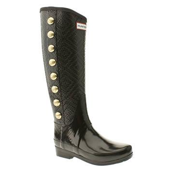 Vegan military style knee high rain boots
