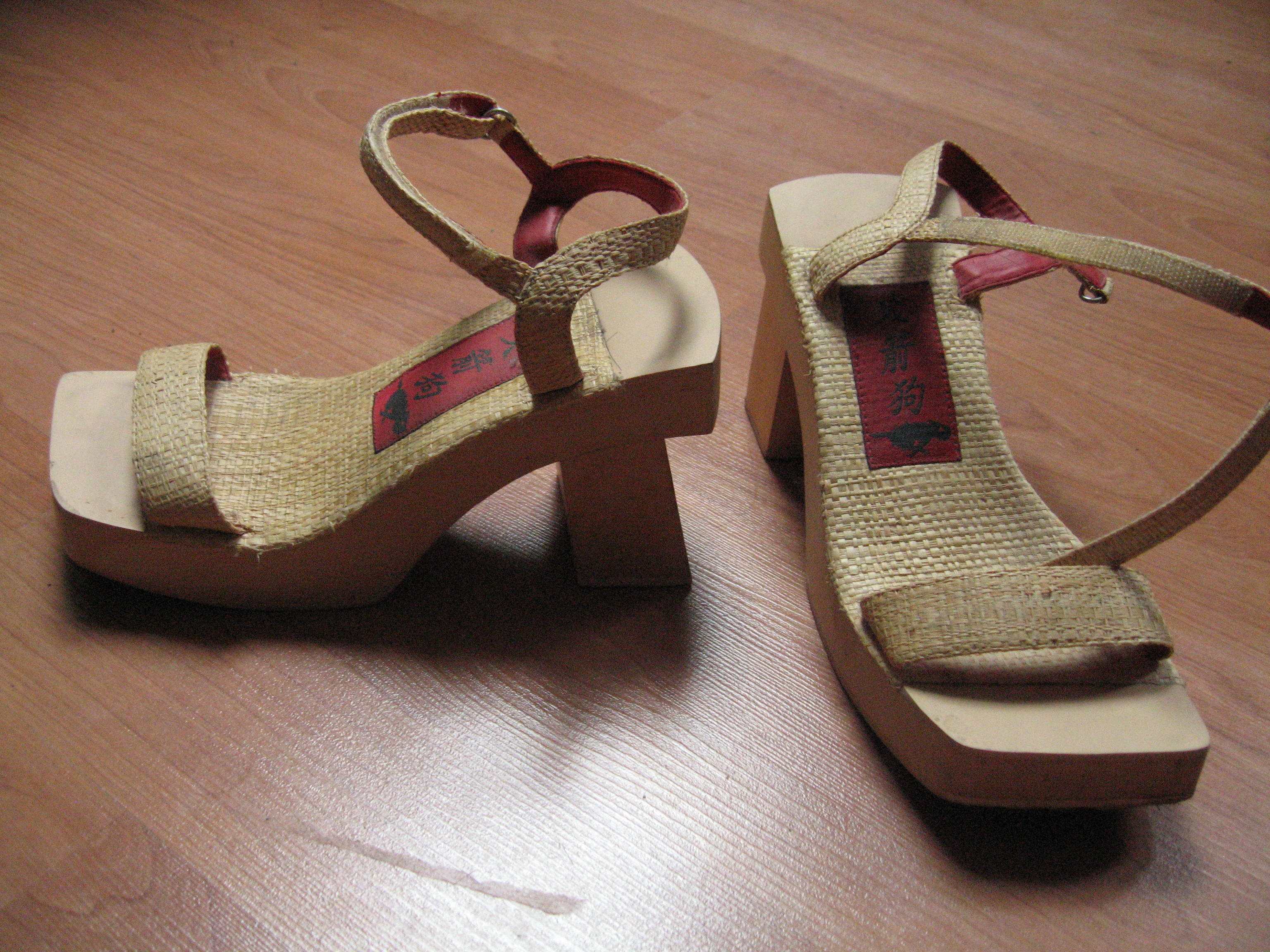 My shoes for sale #1: Rocket dog kabuki wood heels