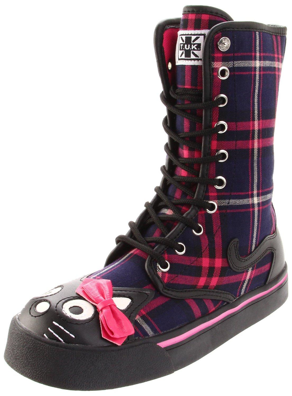 Super cute vegan shin-high kitty boots